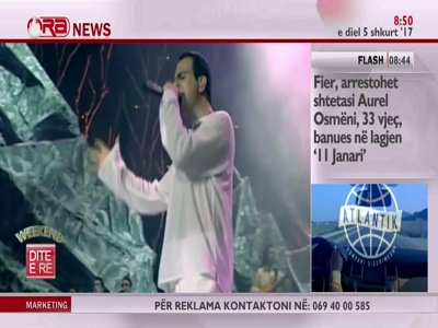 ORA News HD (Eutelsat 16A - 16.0°E)